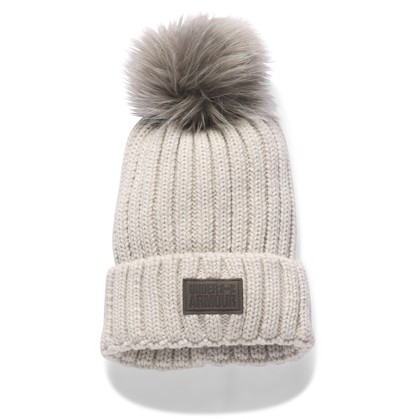 8fa374415f8 Under Armour Ladies Snowcrest Pom Beanie. Double tap to zoom. 1  2