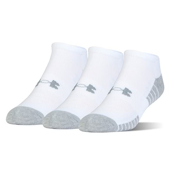 Under Armour Mens Heatgear Tech No Show Socks (3 Pack)