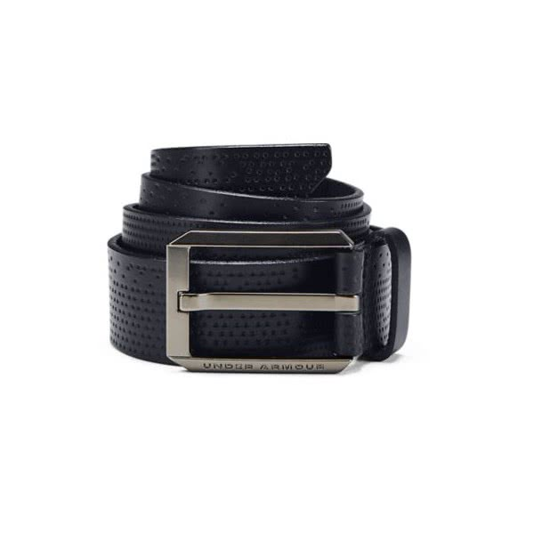 Under Armour Mens Laser Perf Leather Belt