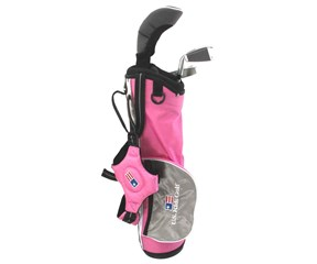 US Kids UL-39 Inch Girls Pink 3-Club Golf Package Set