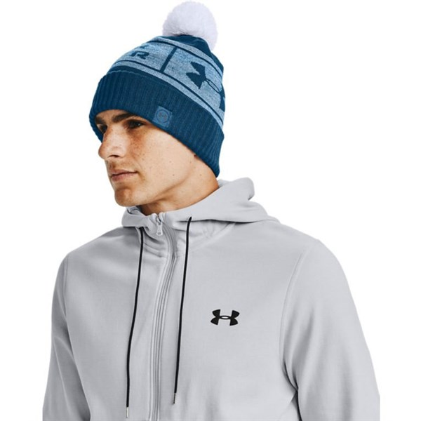 Under Armour Mens Big Logo Pom Beanie Hat