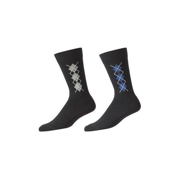 FootJoy Mens ProDry Argyle Crew Socks (2 Pack) 2013