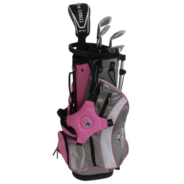 US Kids UL-48 Inch Girls Pink 5-Club Golf Package Set