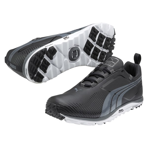 Puma Golf Mens Faas Lite Spikeless Shoes (Black/Castlerock)
