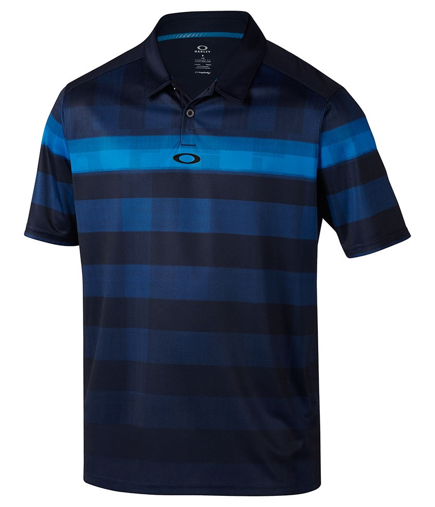Oakley mens daredevil golf polo shirt golfonline for Mens golf polo shirts
