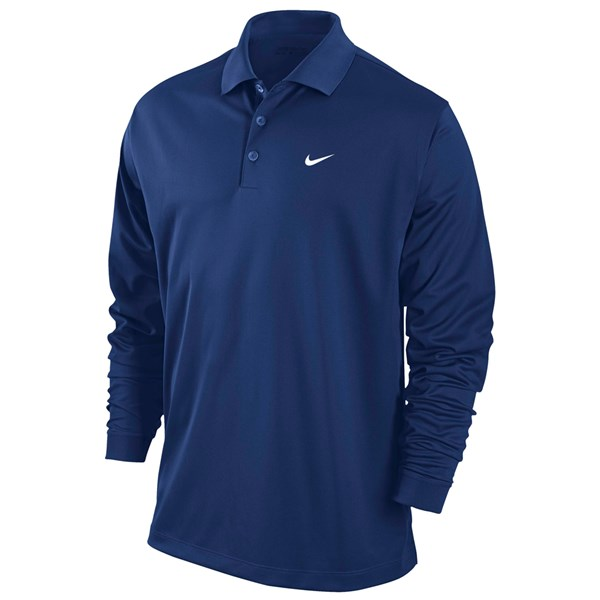 Nike Mens Dri-Fit Stretch Tech Polo Shirt (Long Sleeve ...