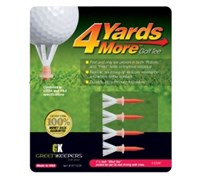 4 Yards More Golf Tees (Red)