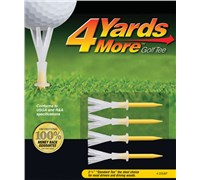 4 Yards More Golf Tees (Yellow)