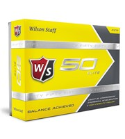 Wilson Staff Fifty Elite Yellow Golf Ball  12 Balls