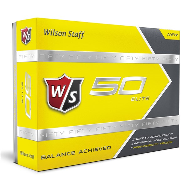 Wilson Staff Fifty Elite Yellow Golf Ball (12 Balls)