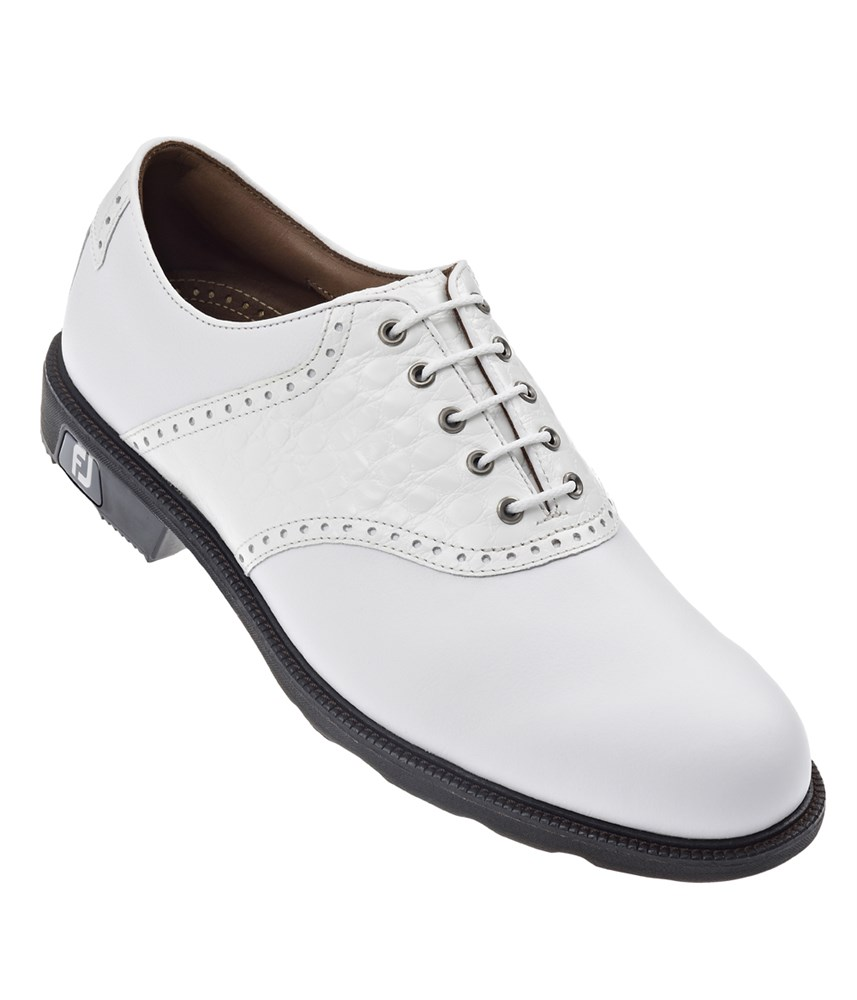 footjoy mens fj icon golf shoes white white croc 2014