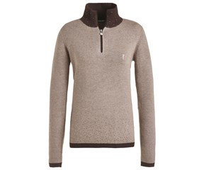 Golfino Ladies Cable Knit Rhinestone Troyer