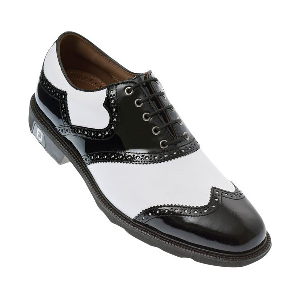 FootJoy Mens FJ Icon Golf Shoes (White/Black Patent)