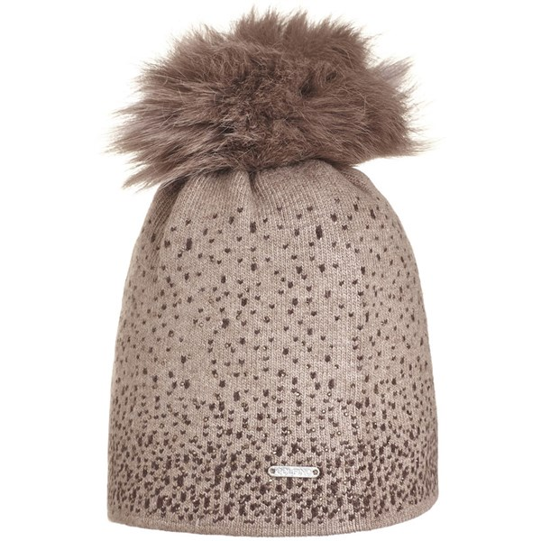 Golfino Ladies Knitted Rhinestone Pom Pom Beanie Hat. Double tap to zoom.  Sorry ... c8084f2df779