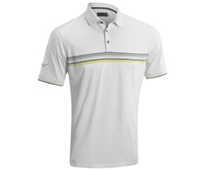 Mizuno Mens Chest Stripe Cotton Polo Shirt