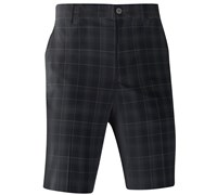 Mizuno Mens Check Golf Shorts (Black)