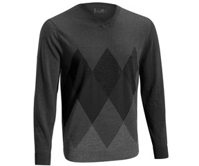 Mizuno Mens Breath Thermo Argyle Wool Knit Sweater