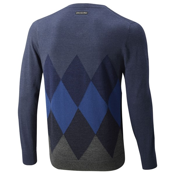 6a34f3d8aff Mizuno Mens Breath Thermo Argyle Wool Knit Sweater