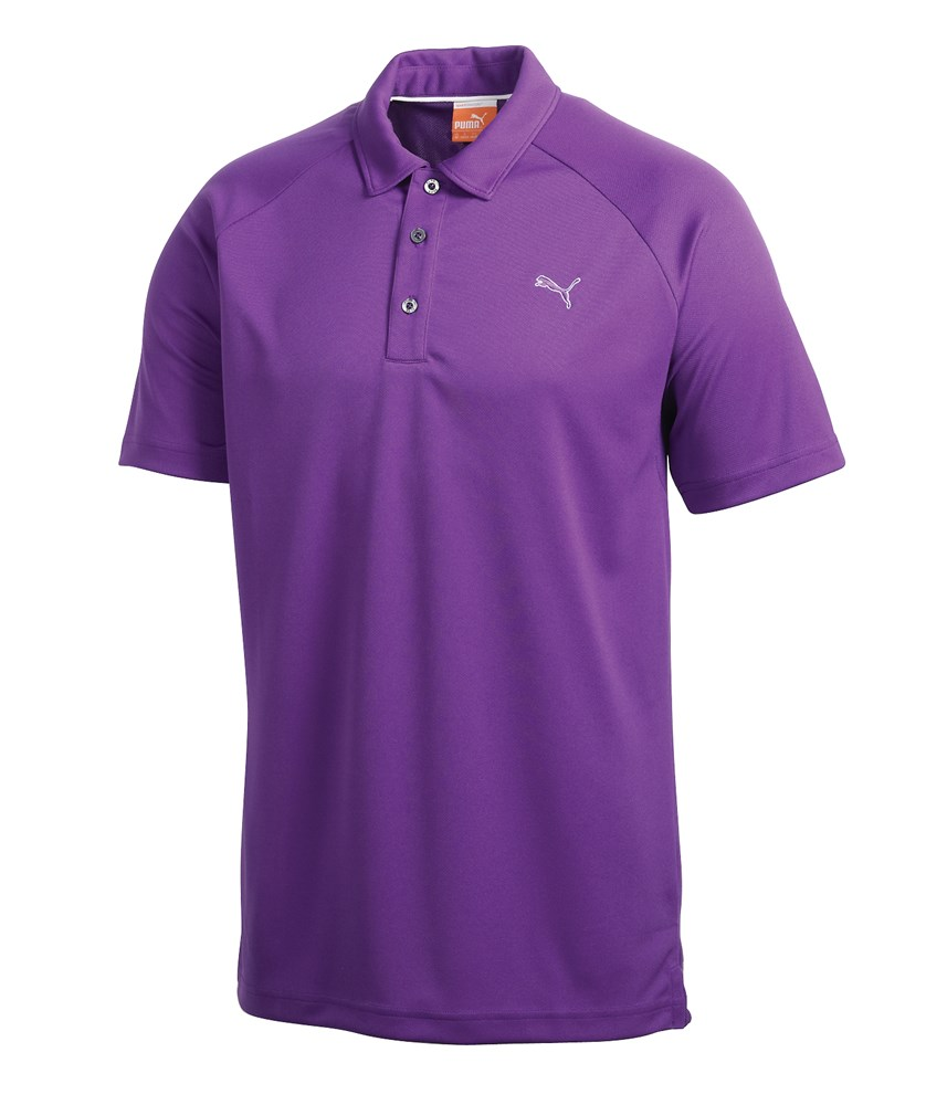 Puma mens raglan tech polo shirt golfonline for Mens puma golf shirts