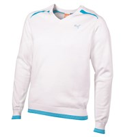 Puma Golf Mens Cotton V-Neck Sweater