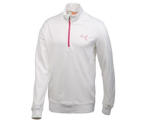 Puma Golf Mens Solid 1/4 Zip Popover Fleece