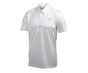 Puma Golf Mens Tech Yoke Graphic Polo Shirt