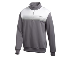 Puma Golf Mens Graphic 1/4 Zip Pullover Sweater