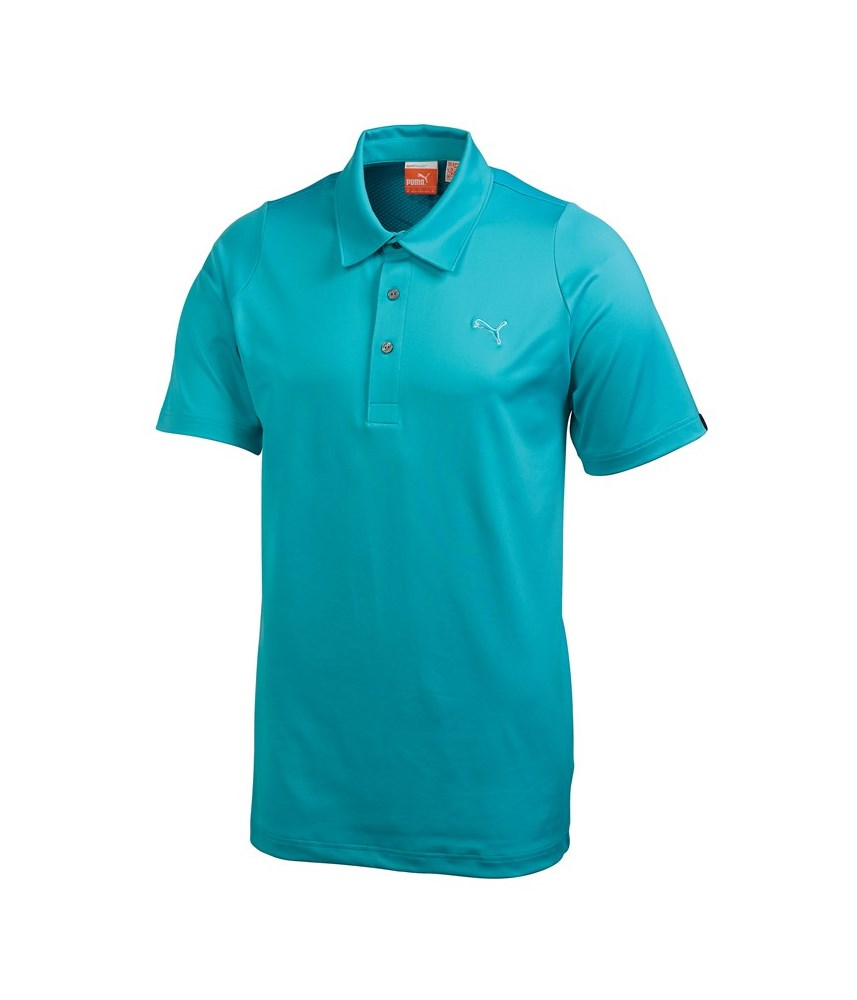 Puma golf mens duo swing polo shirt golfonline for Mens puma golf shirts