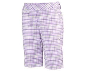 Puma Golf Ladies Plaid Tech Bermuda Shorts