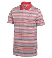 Puma Golf Mens Road Map Stripe Golf Polo Shirt