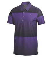 Puma Golf Mens Ombre Stripe Golf Polo Shirt 2014