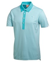 Puma Golf Mens Jaquard Pattern Golf Polo Shirt