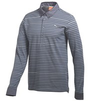 Puma Golf Mens Long Sleeve Yarn Dye Golf Polo Shirt