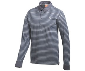 Puma Golf Mens Long Sleeve Yarn Dye Golf Polo Shirt 2014