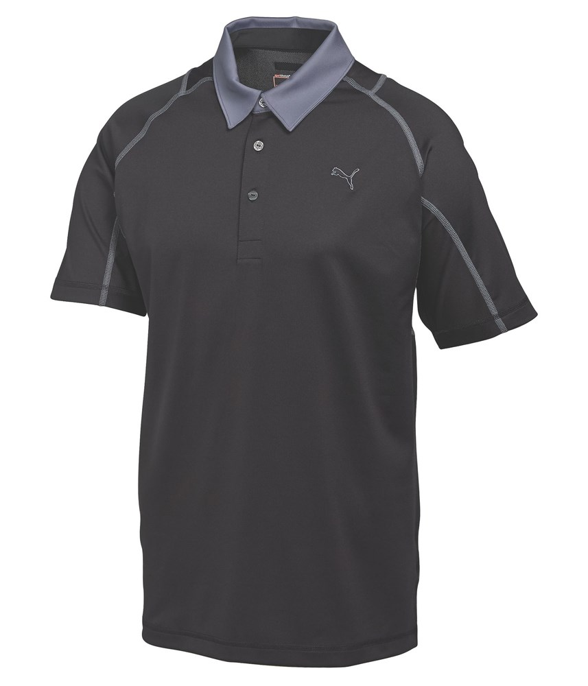 Puma golf mens titan tour polo shirt golfonline for Mens puma golf shirts