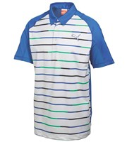 Puma Golf Mens GoTime Print Stripe Polo Shirt 2015