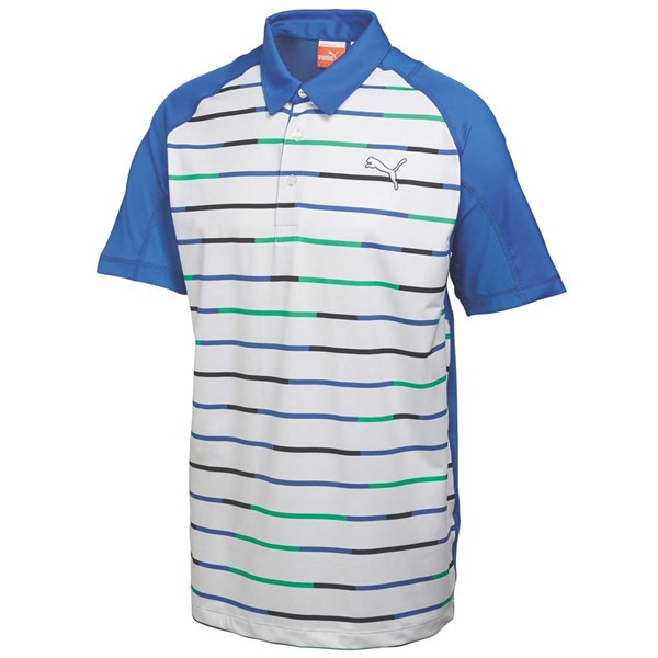 Puma  Mens GoTime Print Stripe Polo Shirt