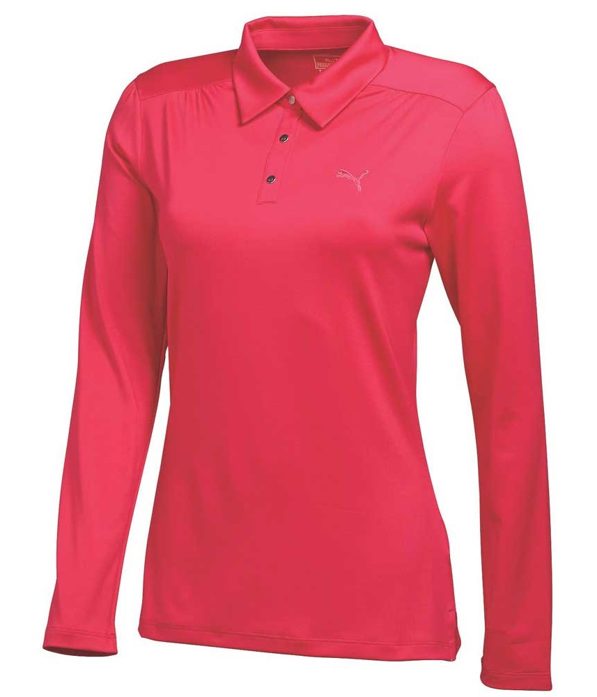 Puma Golf Ladies Long Sleeve Polo Shirt Golfonline