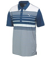 Puma Golf Mens Yarn Dye Stripe Polo Shirt 2015