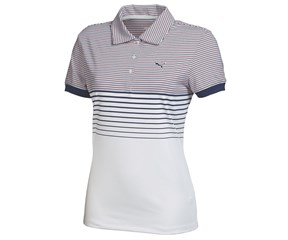 Puma Golf Ladies Double Stripe Polo Shirt