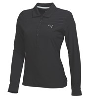Puma Golf Ladies Woven Long Sleeve Polo Shirt