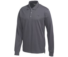 Puma Golf Mens Long Sleeve Solid Polo Shirt
