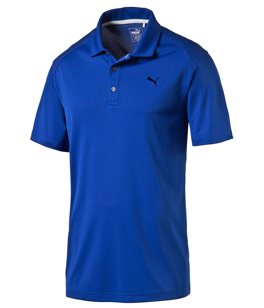Puma golf mens pounce polo shirt golfonline for Mens puma golf shirts