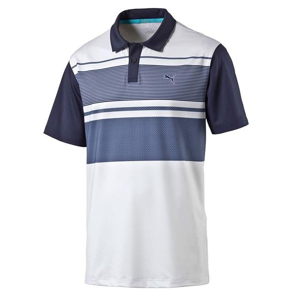 Puma Mens PWRCOOL Pattern Block Polo Shirt