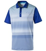 Puma Golf Mens GOTIME Brush Stripe Polo Shirt