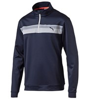 Puma Golf Mens PWRWARM Quarter Zip Block Popover