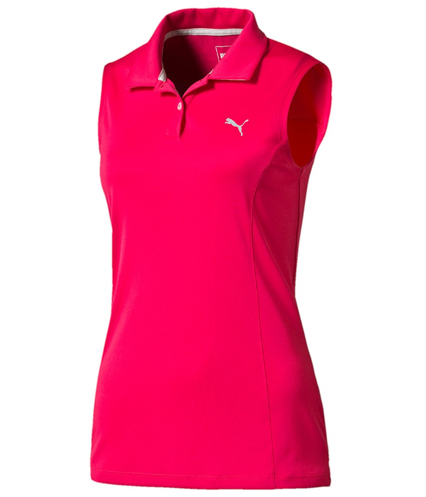 puma golf ladies pounce sleeveless polo shirt golfonline