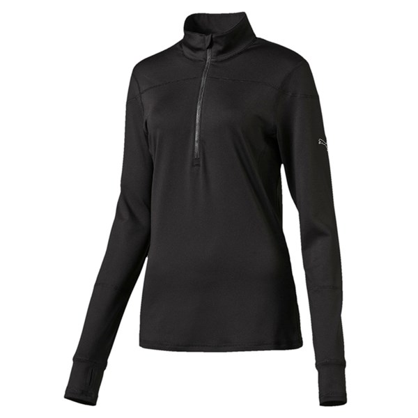 Puma  Ladies Quarter Zip Long Sleeve Popover