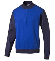 Puma Golf Mens Tailored Zip Block Sweater