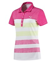 Puma Golf Ladies Road Map Texture Polo Shirt